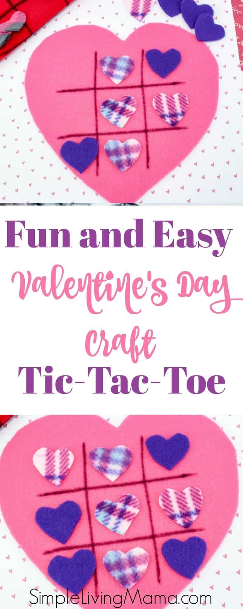 This fun and easy Valentine's Day craft is perfect for kids and adults alike. Make a felt heart and play tic-tac-toe!