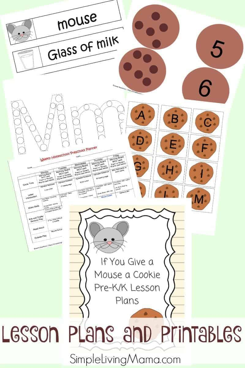 If You Give a Mouse a Cookie lesson plans and printables are perfect for preschoolers and kindergartners to explore the book by Laura Numeroff.