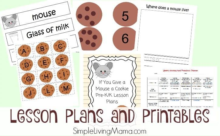 If You Give a Mouse a Cookie Preschool Lesson Plans and Printables