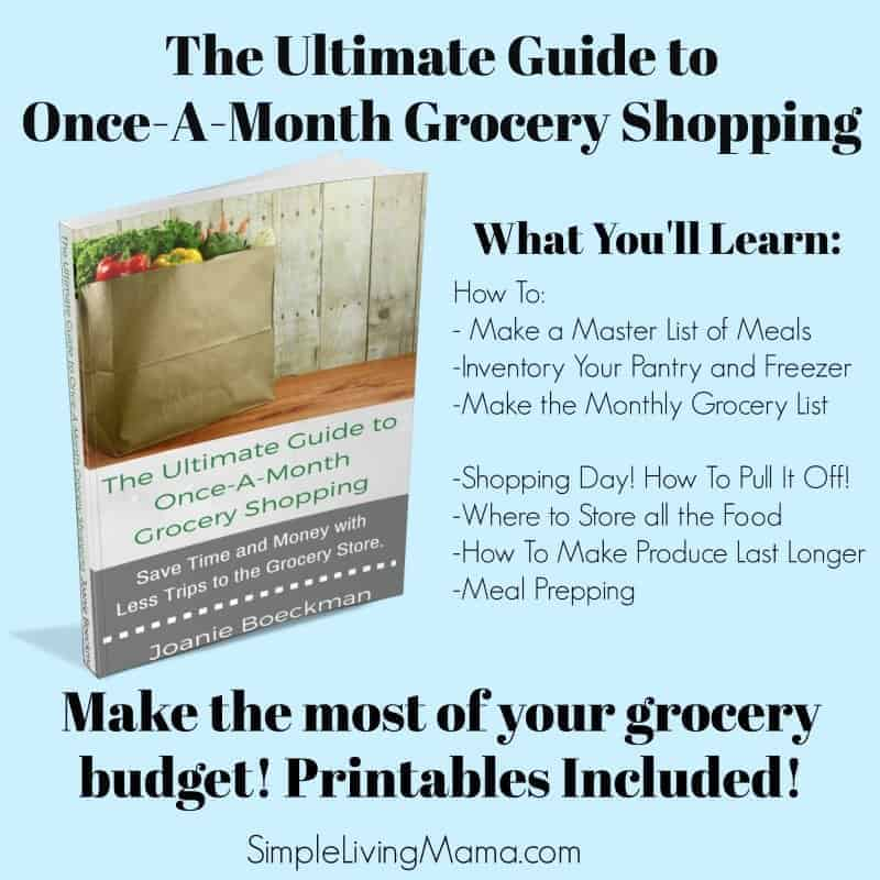 Once a month grocery shopping eBook