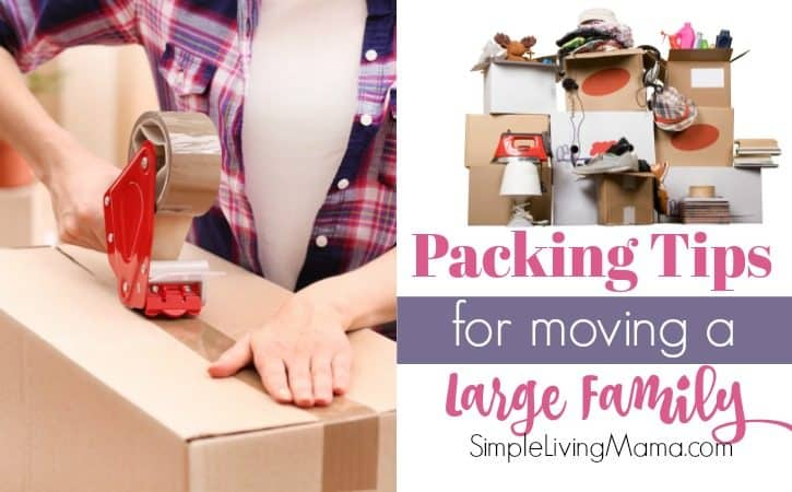 Packing Tips for Moving a Large Family