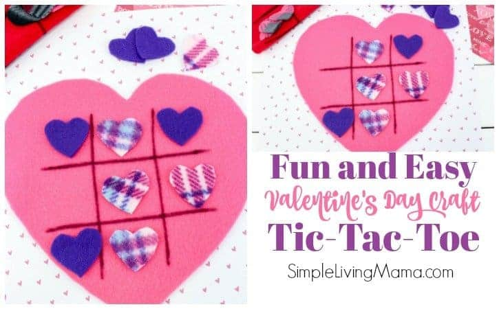 Valentine's Day craft made of felt. A fun tic-tac-toe game!