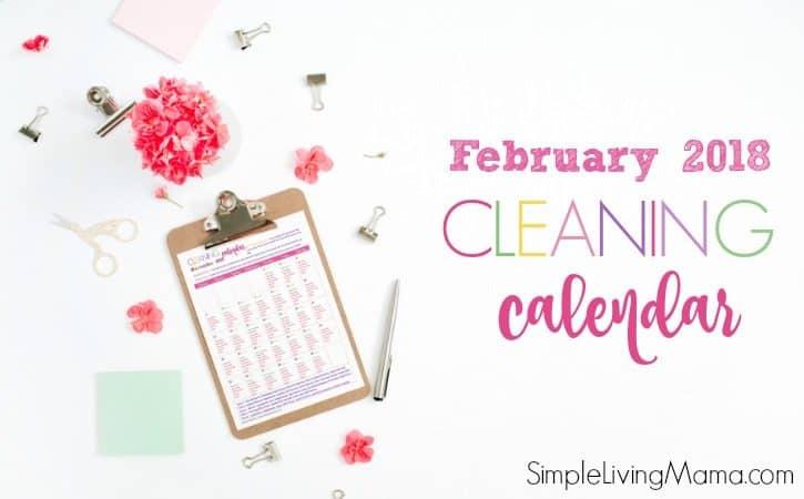 February 2018 Cleaning Calendar