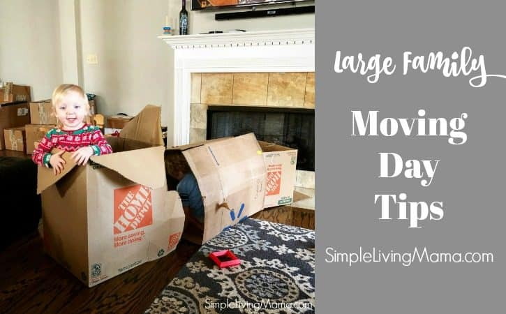 Moving Day Tips for a Large Family