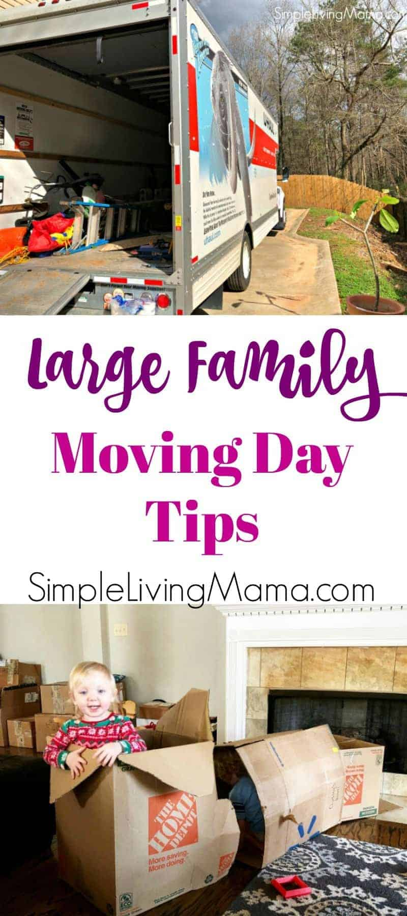 Are you moving your large family? These large family moving day tips will help you learn what to do and what not to do on moving day!