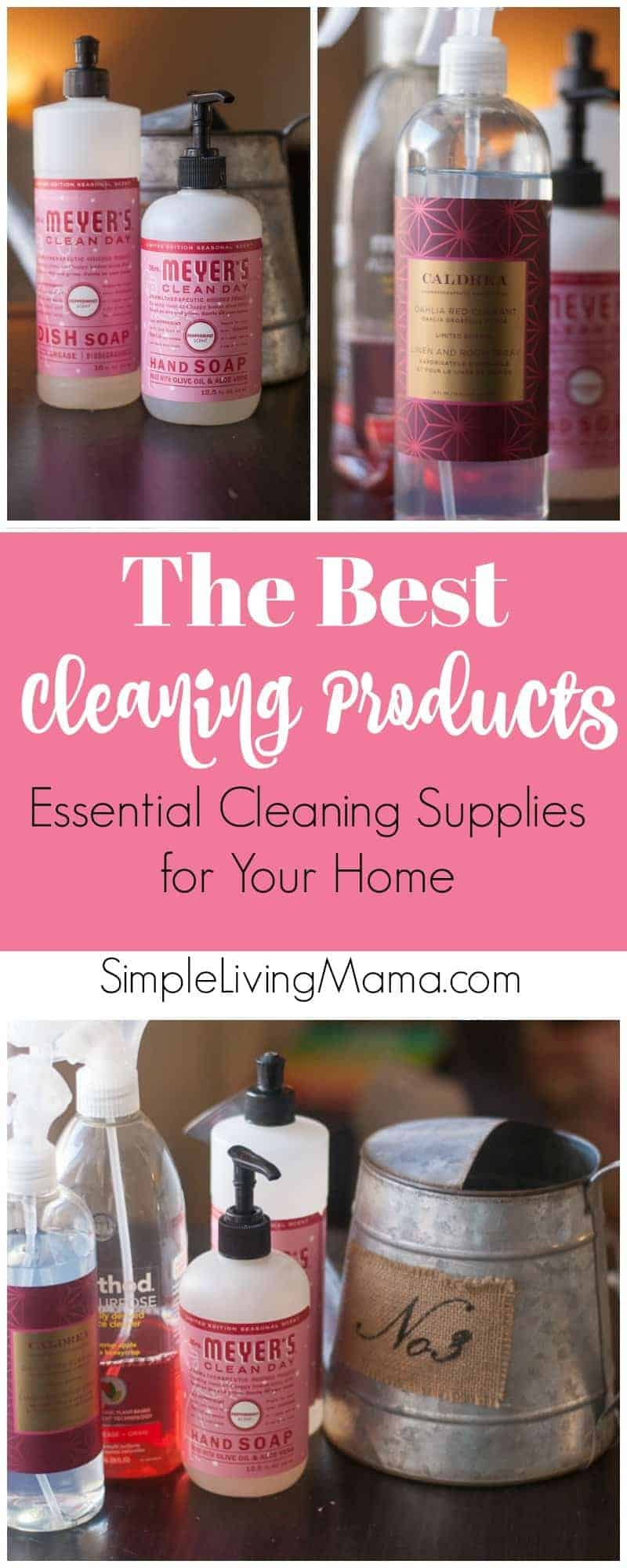 These are the best cleaning products for 2018. These essential cleaning supplies not only clean your home well, they smell awesome!