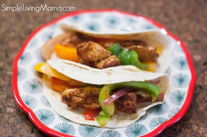 chicken fajitas on a plate