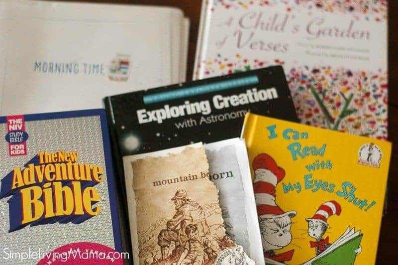 Our homeschool morning time books.