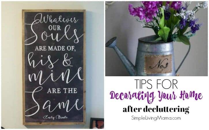 Tips for Decorating Your Home After Decluttering