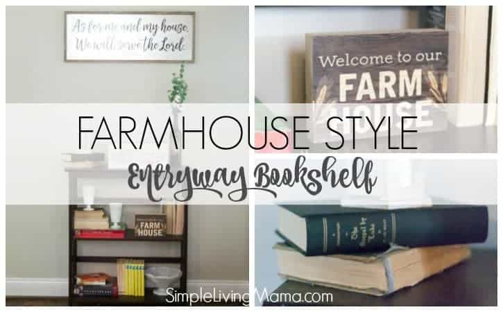 Design your entryway with farmhouse decor with some simple items from around your home.