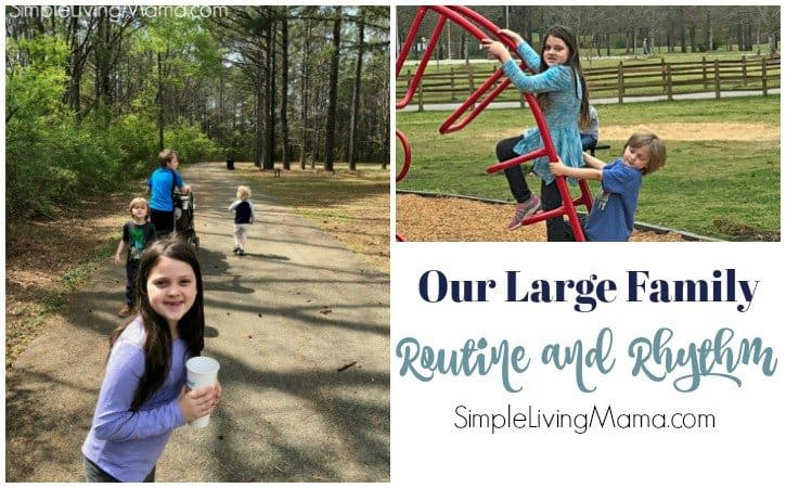 Our Large Family Routine and Rhythm