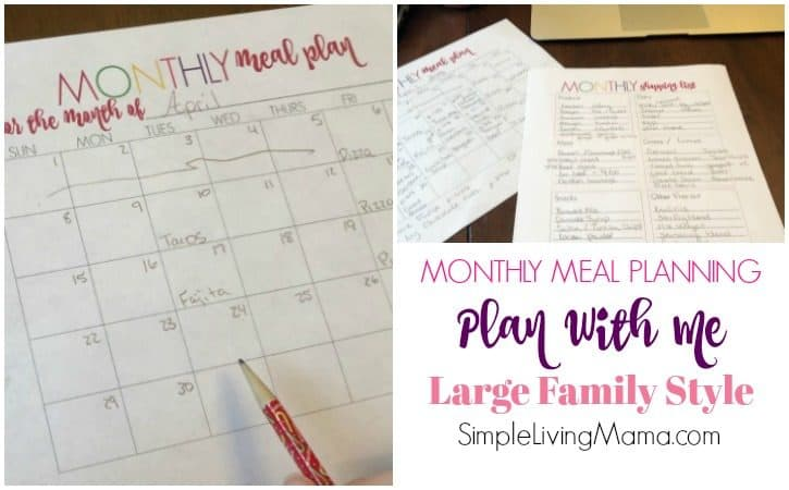 Large Family Monthly Meal Planning – Plan With Me!