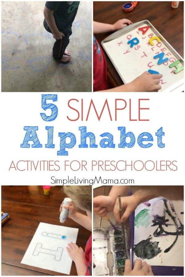 These five simple alphabet activities for preschoolers will help you teach your child the ABCs in a hands-on way.