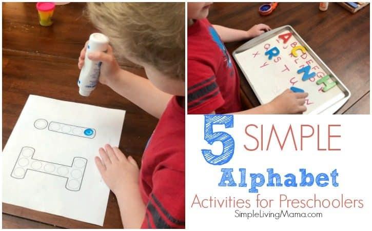 Five Simple Alphabet Activities for Preschoolers