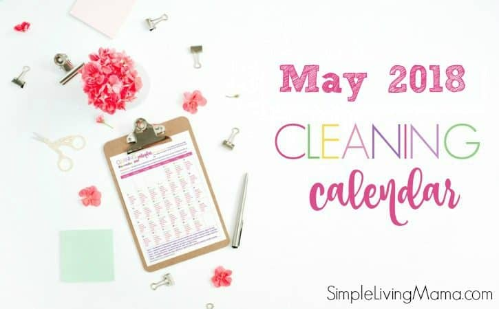 May 2018 Cleaning Calendar