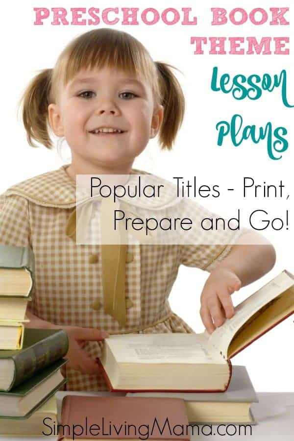 Preschool book theme lesson plans are an amazing way to teach preschoolers about books, along with lots of other fun preschool activities!