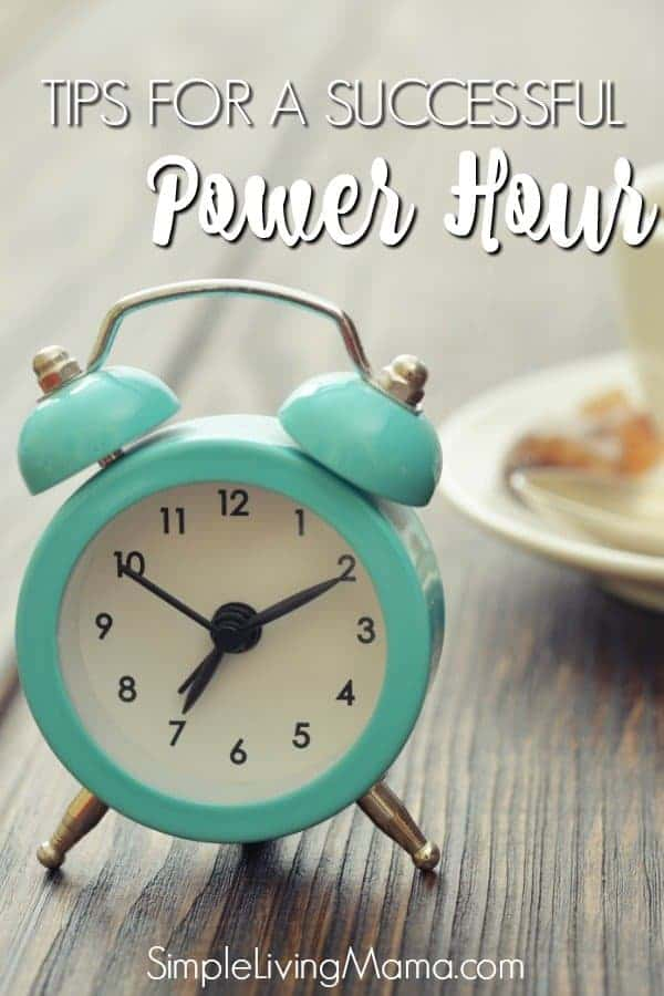 Learn how to tackle your to-do list with a power hour cleaning session! Even if you don't have to clean, you can accomplish goals in an hour with a power hour.