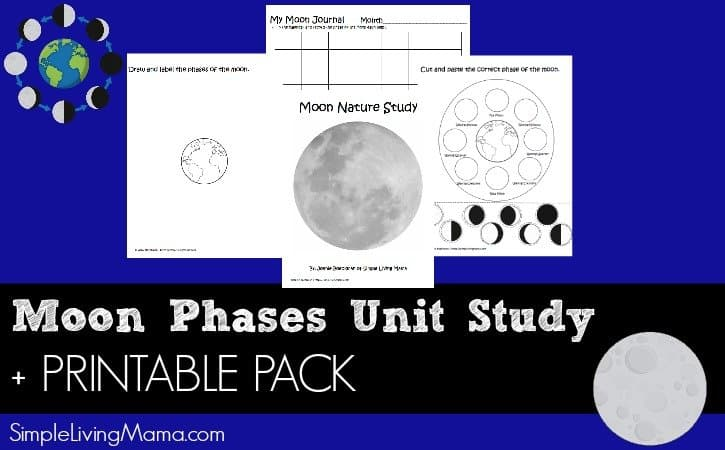 graphic about Moon Phases Printable identify Moon Stages Device Research + Printables - Easy Residing Mama