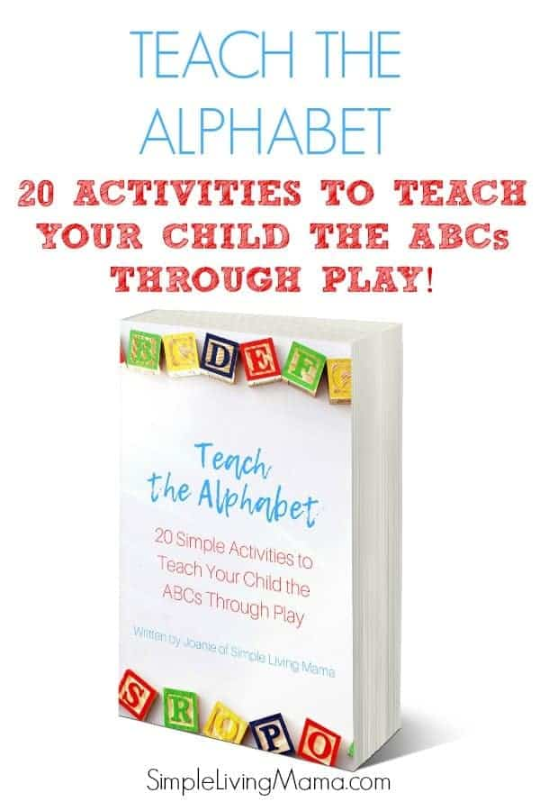 Take the stress out of teaching your preschooler the alphabet! 20 simple ABC activities teach your child the ABCs through play!
