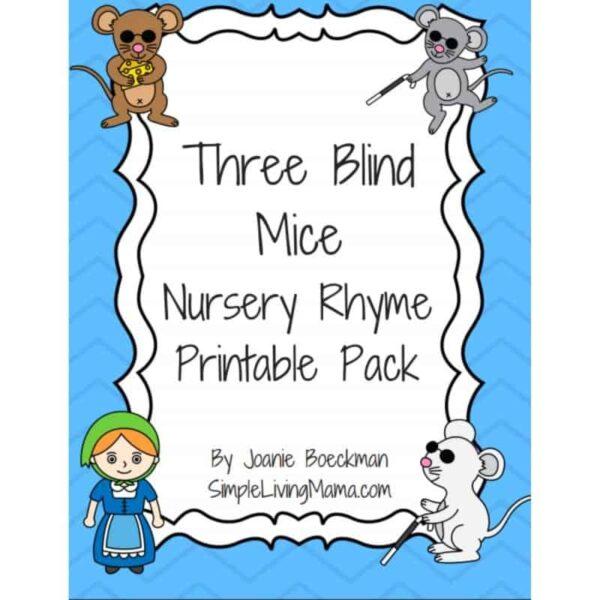 Three Blind Mice Nursery Rhyme Printables
