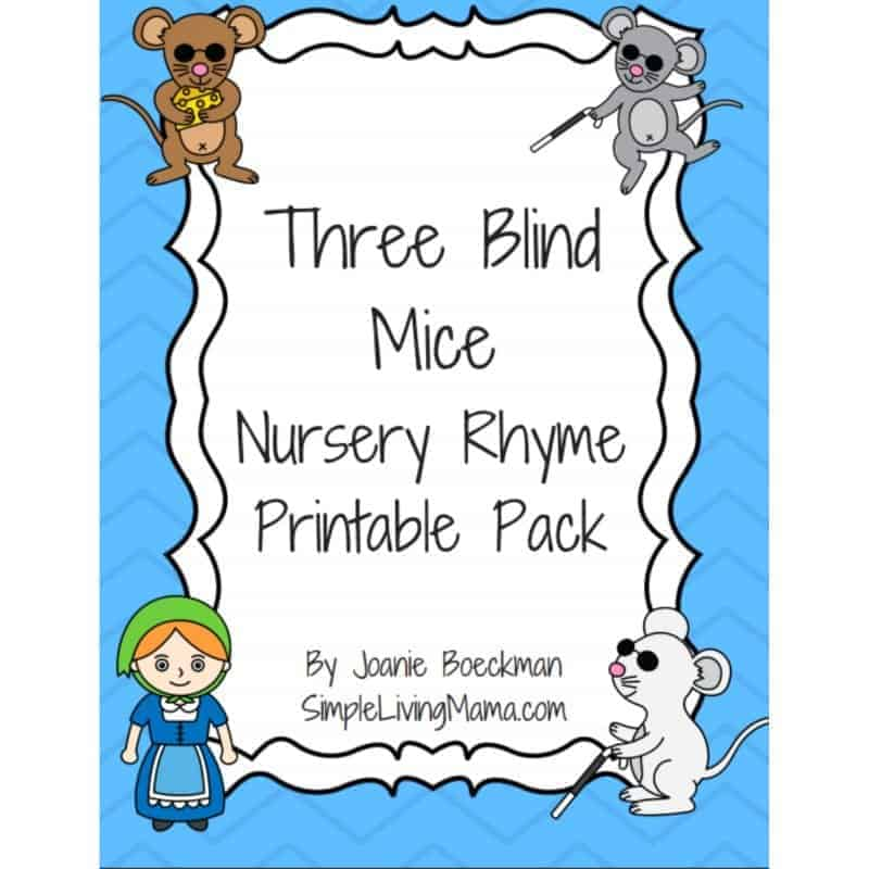 Three Blind Mice Nursery Rhyme Printables