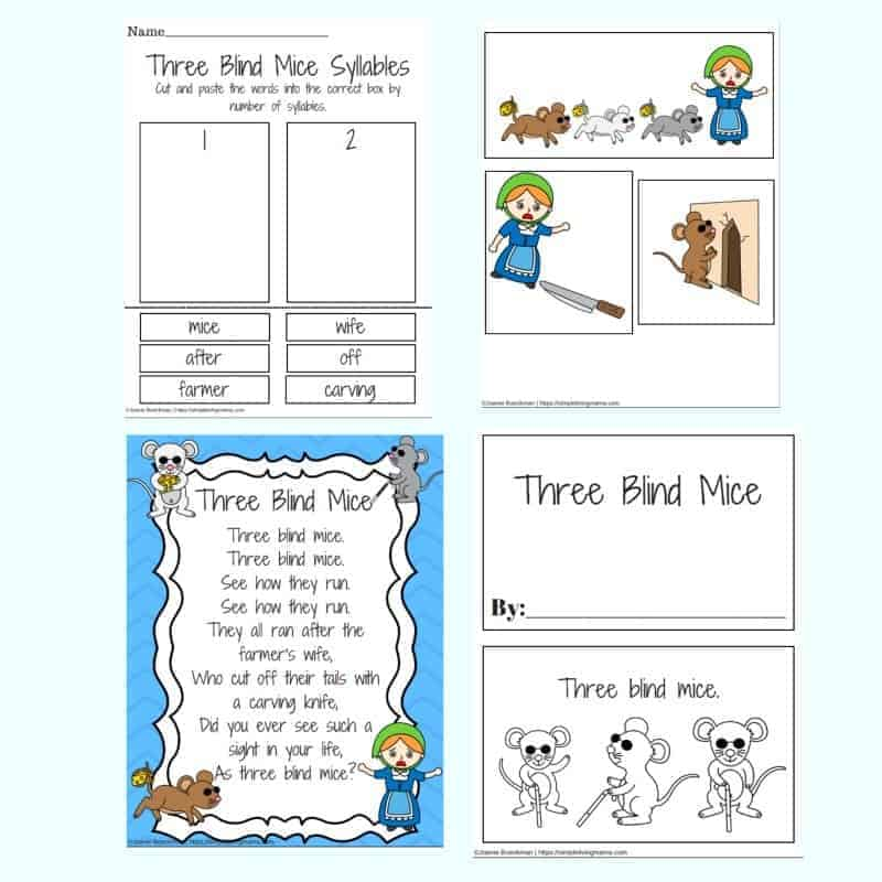 three blind mice printables
