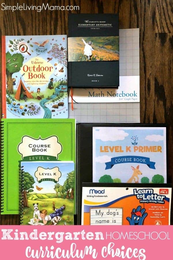 Take a look at our kindergarten homeschool curriculum choices! We are an eclectic homeschool and we mix the Charlotte Mason method with The Good and the Beautiful curriculum and a lot of unit studies!