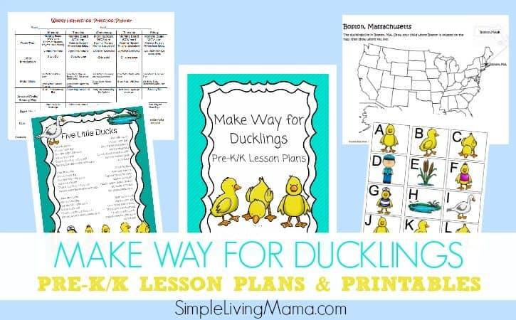 Make Way for Ducklings Lesson Plans and Printables