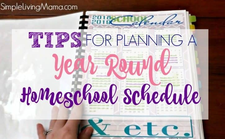 How To Plan a Year Round Homeschool Schedule {Giveaway!}