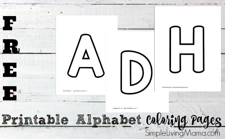 Free Alphabet Printable Coloring Pages