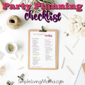 This party planning checklist will help you be organized for your party!