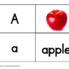A is for apple picture word cards