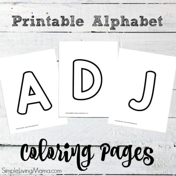 Free printable alphabet coloring pages.