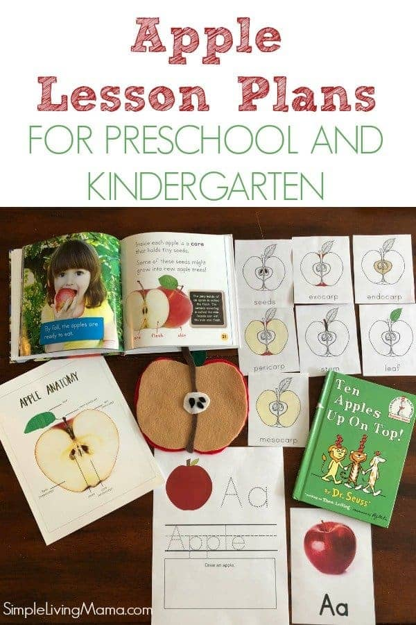 Apple Theme Lesson Plans For Preschool And Kindergarten Simple