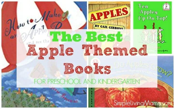 Apple themed books for preschoolers and kindergartners