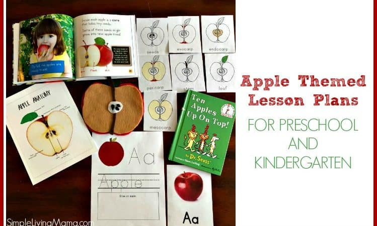 Apple Theme Lesson Plans for Preschool and Kindergarten