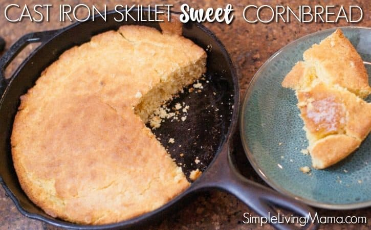 Cast Iron Skillet Sweet Cornbread