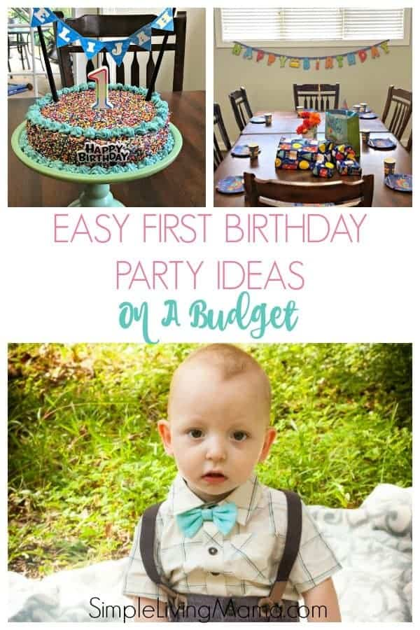 Easy first birthday party ideas for those on a budget