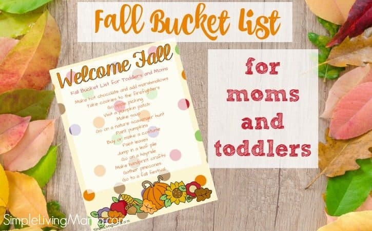 Fall Bucket List for Toddlers with Free Printable!