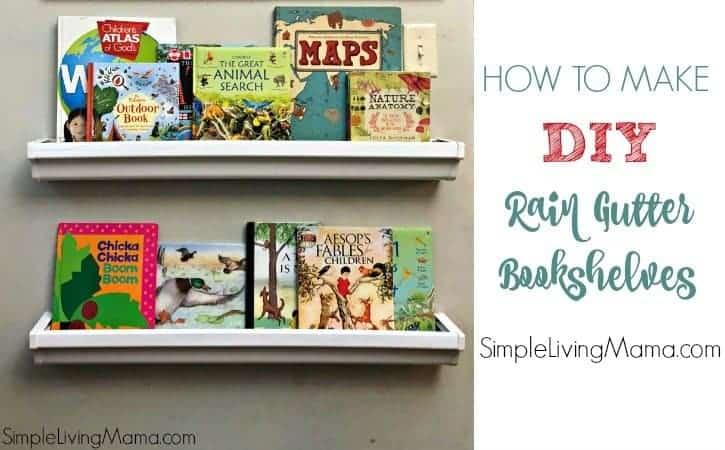 How To Make Rain Gutter Book Shelves – SO EASY!