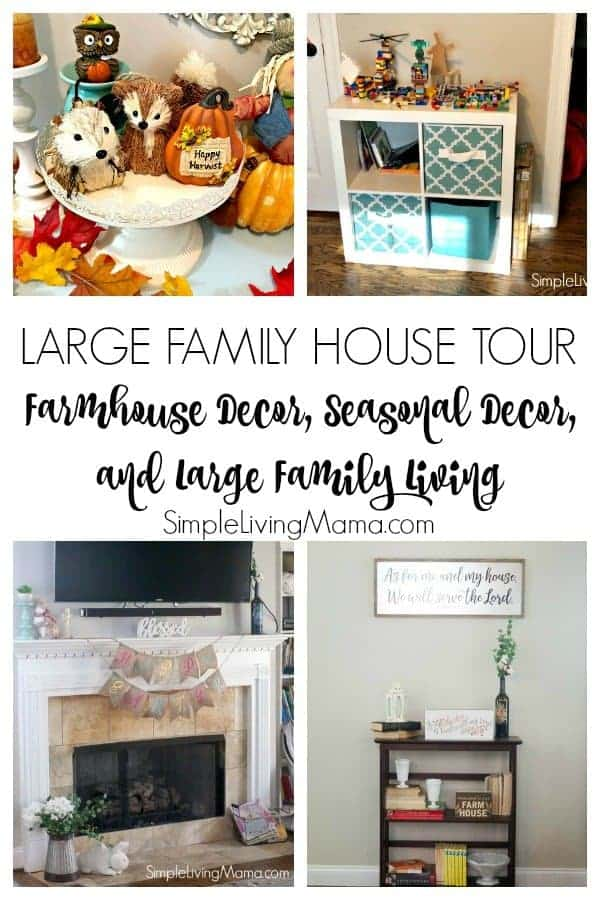 Check out our large family house tour. See our large family bedrooms, our farmhouse decor, and seasonal decorations.