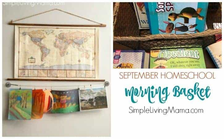 September 2018 Homeschool Morning Basket