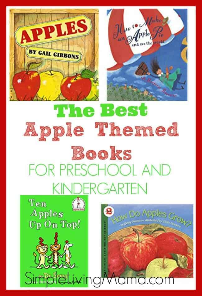 These are the best apple themed books for preschool and kindergarten if you're planning an apple unit!