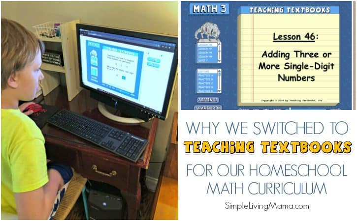 Why We Switched to Teaching Textbooks 3.0 for our Homeschool Math Curriculum