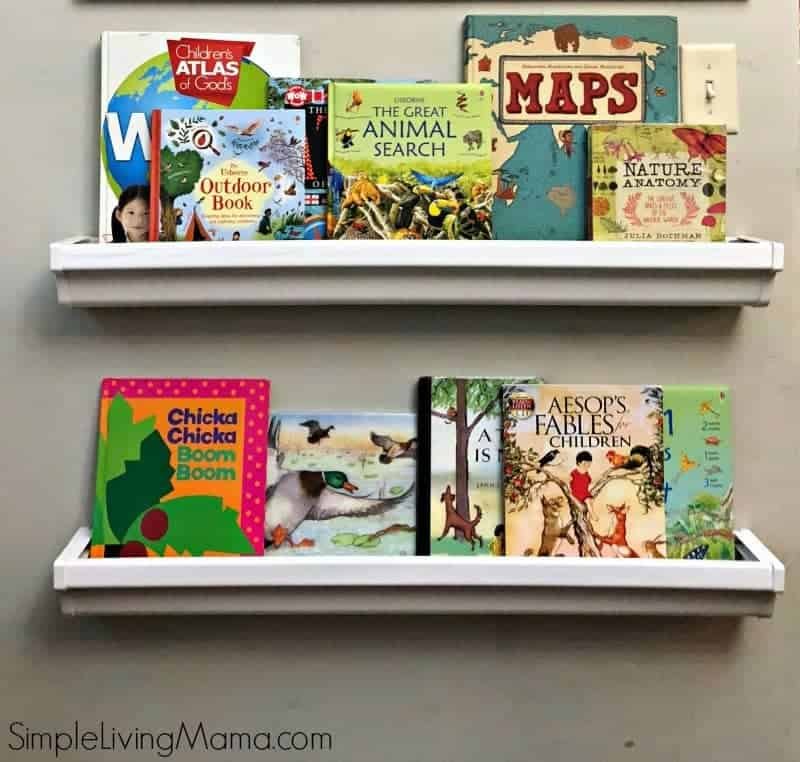 How To Make Rain Gutter Book Shelves