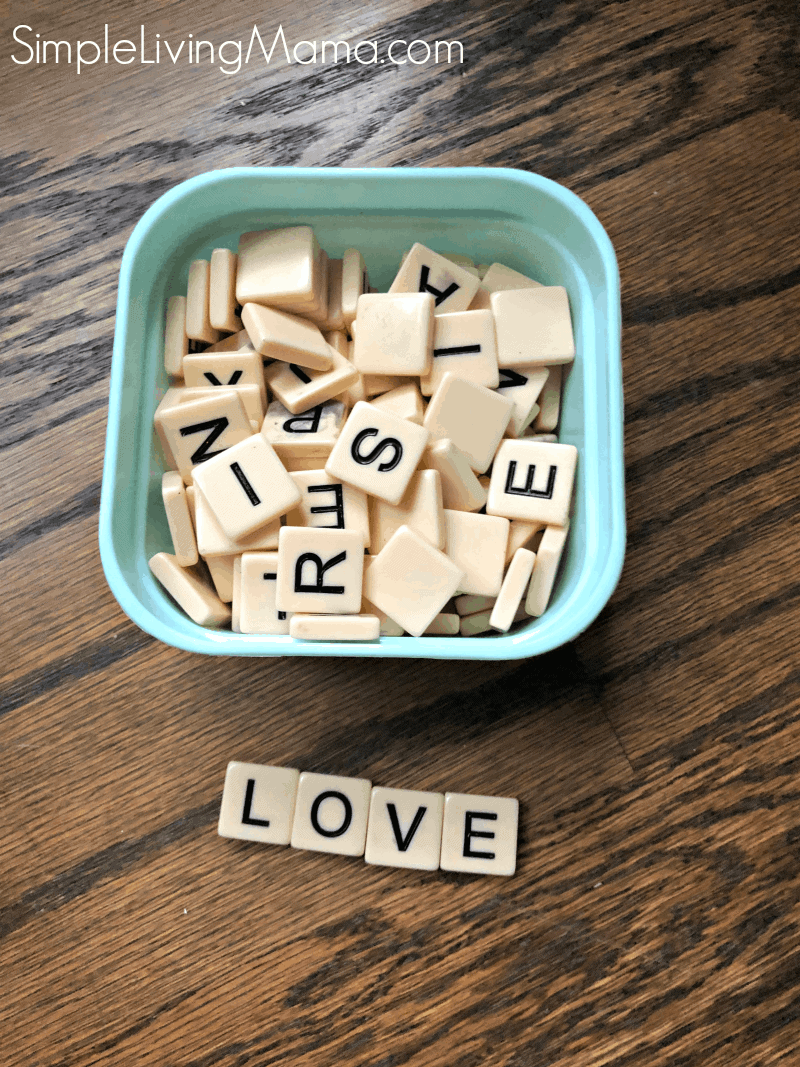 Bananagrams to practice spelling words