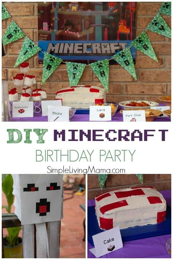 This DIY Minecraft birthday party was so much fun, and such an inexpensive kids' birthday party idea!