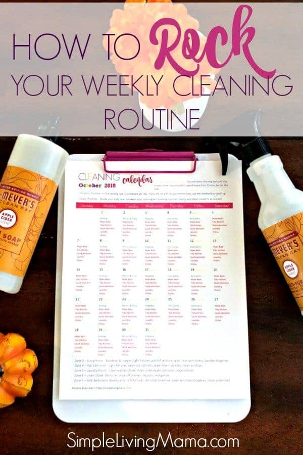 Learn how to rock your weekly cleaning routine and keep all of the main areas of your home nice and clean!