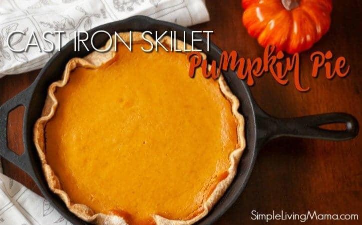 Easy Cast Iron Skillet Pumpkin Pie