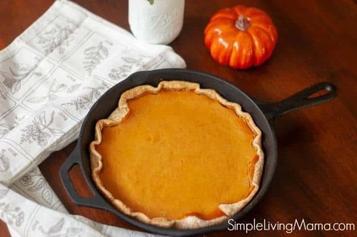 Cast Iron Skillet Pumpkin Pie